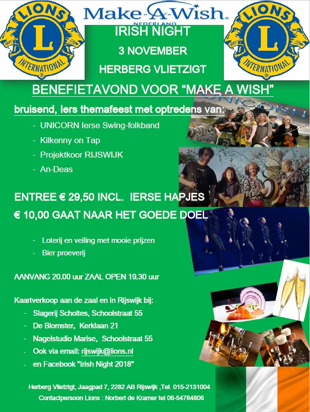 Poster Irish Night 2018
