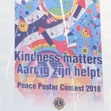 Kindess Matters; het thema van de lions club peace poster contest 2018 - 2019